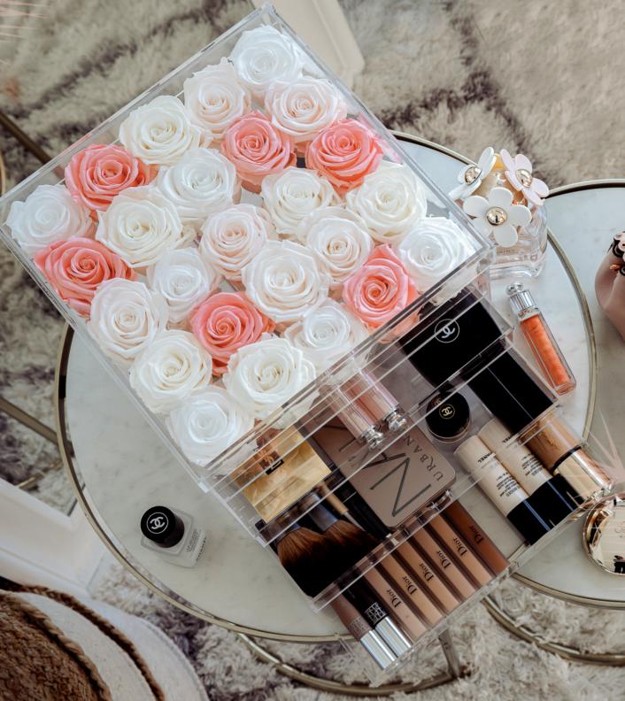 Rose eternelle 25 roses avec tiroirs